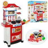 Детская игровая кухня 889-3, звук,свет . красная
