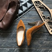 Новые горчичные туфли лодочки 5Th Avenue р-р 38-39