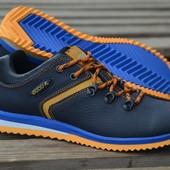 Новинка!!! мужские  кожаные  кроссовки код: Ecco Е3 с