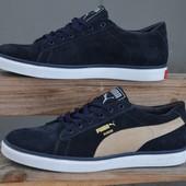 Новинка!!! мужские  кожаные  кроссовки код:Puma 087.