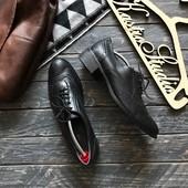 Кожаные женские туфли броги р-р 41