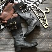 Стильные кожаные деми сапоги р-р 39