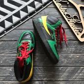 Высокие кожаные кроссовки Fila р-р 41