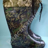 Гумові чоботи з надставкою Мілітарі.