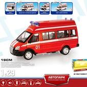 Автобус пожарная машина Автопарк Play smart инерционный свет звук 9707-A пожарка 101