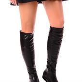 Женские демисезонные сапоги без каблука