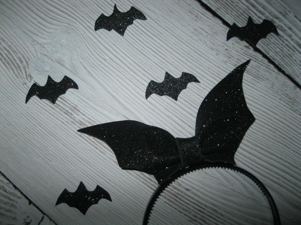 Обруч - летюча миша на хелловін  , ободок летучая мышь на хеллоуин фото №2