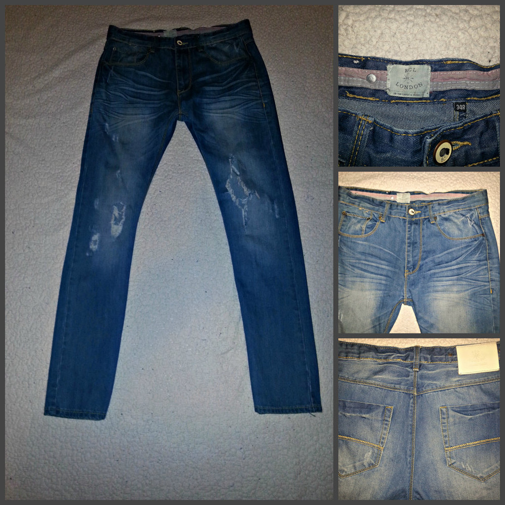 Bcl london. пр-во англия. крутые рваные джинсы. w30 l34 фото №1