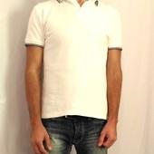 1618 Белая футболка поло M