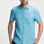 Мужская льняная рубашка C&A Германия размеры S-М