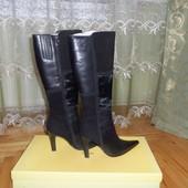 класичні натуральні чобітки 39р. стелька 25,5