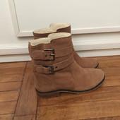 Новые ботинки, натуральная кожа, фирмы Bershka.