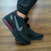 Кроссовки Nike, натур. кожа на меху, р 40-45, код gavk-10451
