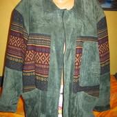 Куртка утеплённая замшевая,р.54-56.Нюанс.