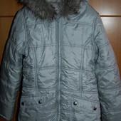 Тёплая куртка George на флисе 8-9 лет новое состояние