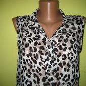 Шифоновая блуза H&M с-м-л размер, в отличном состоянии, ширина по груди 48 см, длн. вспереди - 68 см