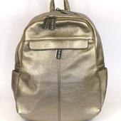 Модный рюкзак женский бронзового цвета