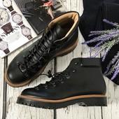 Мужские кожаные ботинки Asos со шнуровкой на тяжелой подошве  SH41103