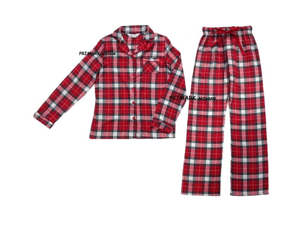 Женская фланелевая пижама primark. читать описание! фото №1