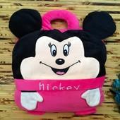 Креативный подарок для ребеночка подушечка сумка-плед