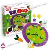 """Набор для творчества """"Toy clock - Заячья полянка"""", настоящие часы из фета своими руками"""