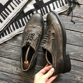 Мужские искусственно состаренные туфли броги AllSaints p-p 43
