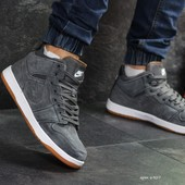Зимние мужские кроссовки Nike Air Jordan Gray