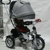 Детский трехколесный велосипед Crosser T-503-Air Кроссер Т 503 надувные колеса, поворотное сиденье