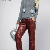 (915) Утепленные штаны Бордо