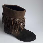 новые ботинки полусапожки San Marina р 39 натур замша кожа