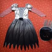 Продаю! 9-10 лет Карнавальное платье и шляпа Хеллоуин (Halloween) Wilko, б/у. Хорошее состояние, без
