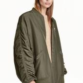 Бомбер оверсайз, H&M, L курточка куртка