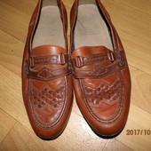 (i270)фирменные кожаные мокасины 43 р UK 9 Германия