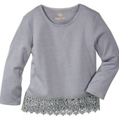 Отличная детская блузка реглан с кружевом 134-140 Pepperts Германия