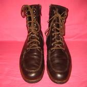 Фирменные кожаные демисезонные ботинки Gucci (оригинал) - (10) 44-45 размер