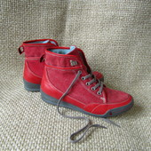 Wolky р.37 якісні чобітки шкіряні+текстиль