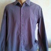 Мужская рубашка H&M  с длинным рукавом L, на рост 185