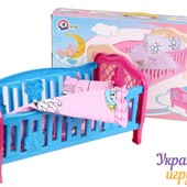 Кроватка для Куклы + Постельное Бельё.