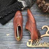 Кожаные туфли броги р-р 45