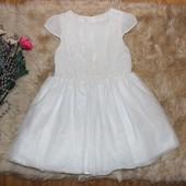 нарядное платье,верх вышитый цветами 18-24мес и дольше