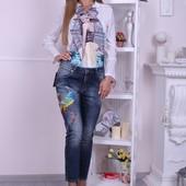 Брендовые турецкие джинсы с вышивкой