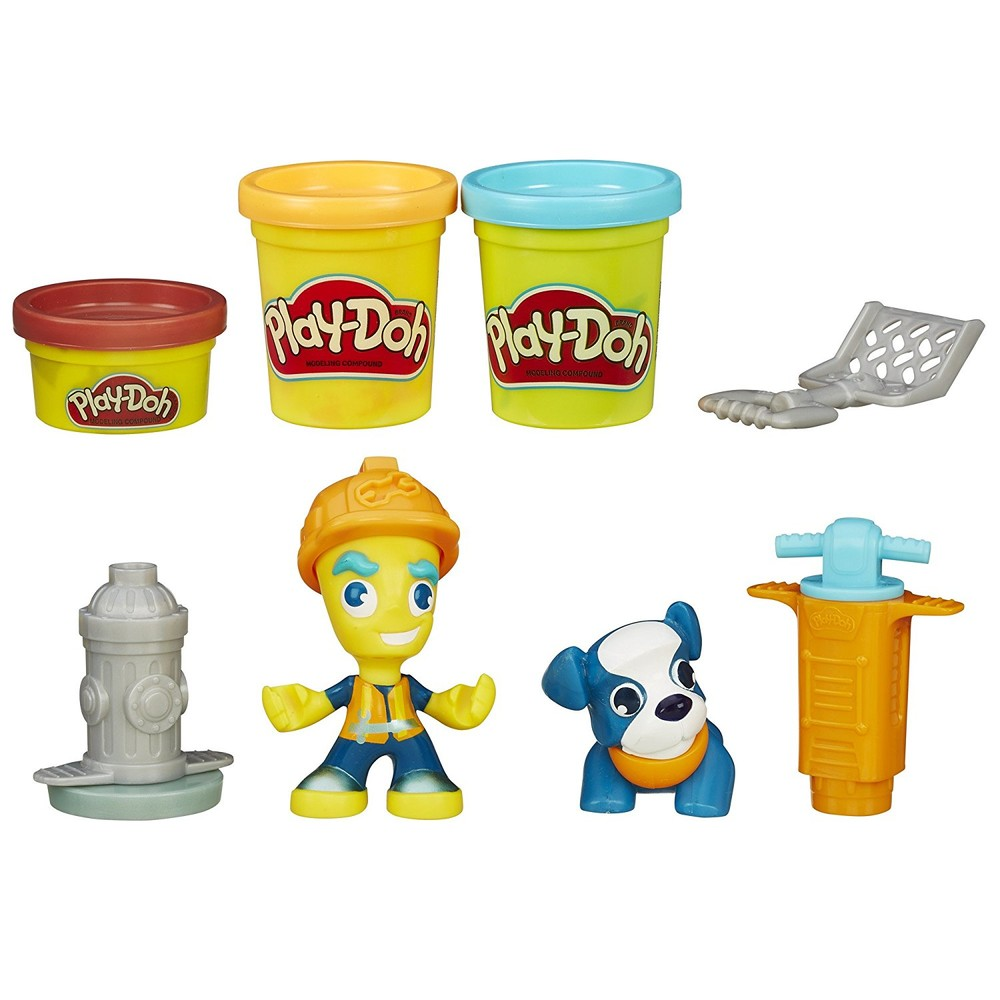 Play-Doh Дорожный рабочий и щенок town road worker and pup фото №1