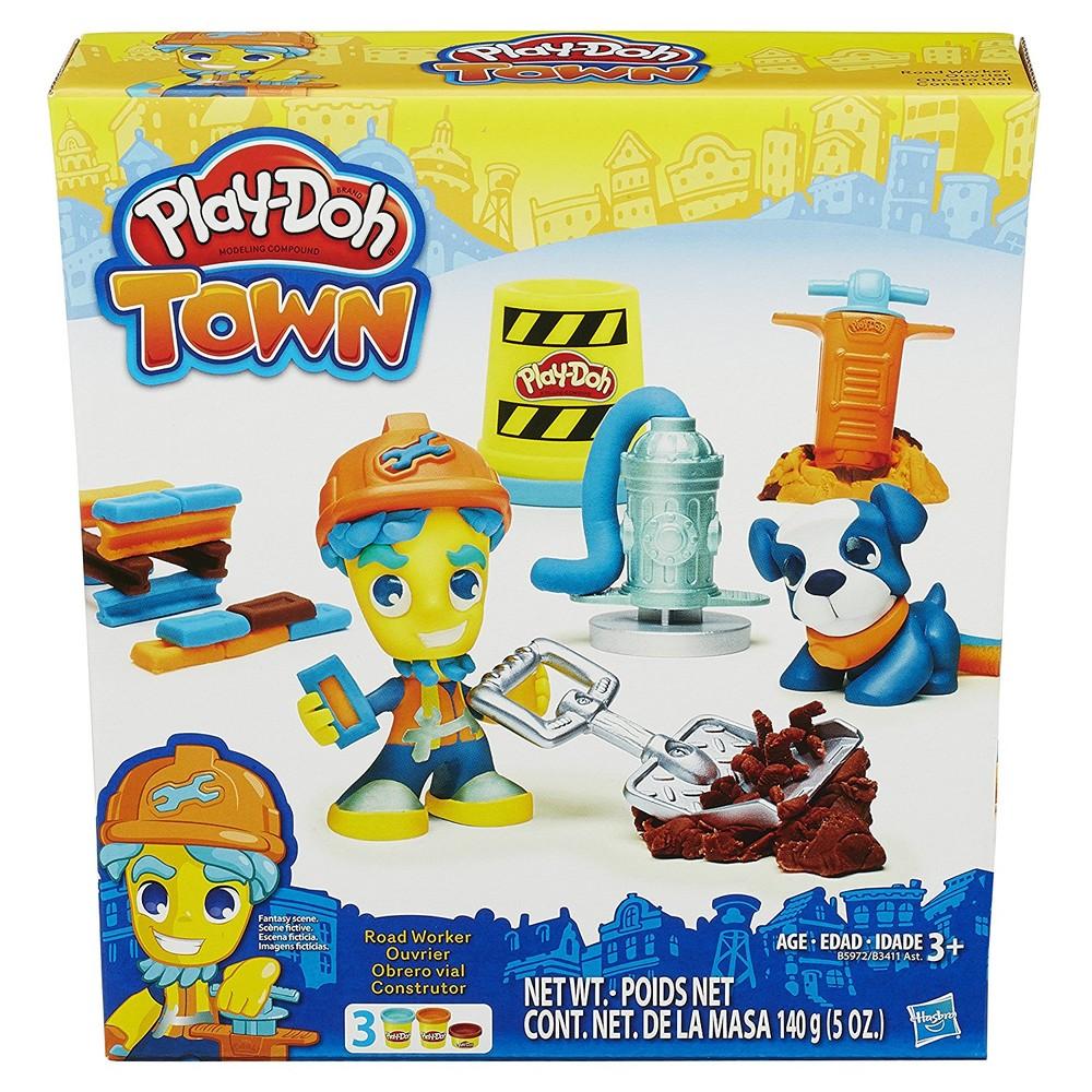 Play-Doh Дорожный рабочий и щенок town road worker and pup фото №2