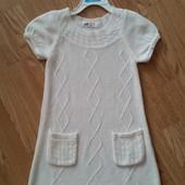 Теплое платье H&M, 4-6лет