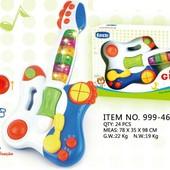 Мызыкальная гитара звук свет 999-46B пианино музыкальные игрушки