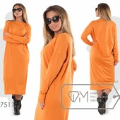 Х7510 Свободное платье 50-56рр 2 цвета