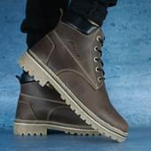 Зимние мужские ботинки Clarks Crayzy brown