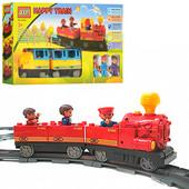 Железная дорога конструктор Jixin маленький паровозик