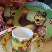 Набор посуды Маша и медведь из керамики