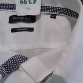 Классическая рубашка - M&S -  Autograph 47 18 1/2 - сток - этикетка!!!